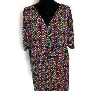Miss Tina Knowles Plus Size Geometric Dress